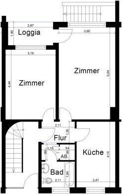 2-Zimmer Wohnung mit Balkon, 41747 Viersen (Hoser)<br>Etagenwohnung